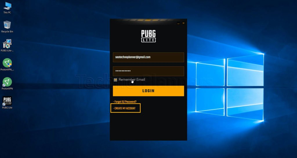 How to create Pubg Lite Account